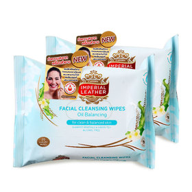 แพ็คคู่ Imperial Leather Facial Cleansing Wipes #Oil Balancing (20pcsx2)