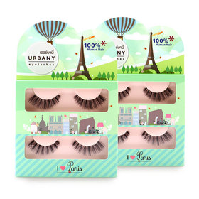 แพ็คคู่  Urbany Eyelashes I Love Paris (2pairs x2)