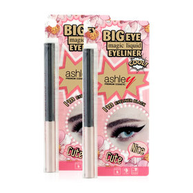 แพ็คคู่ Ashley Big Eye Magic Liquid Eye #Black (1.5gx2)