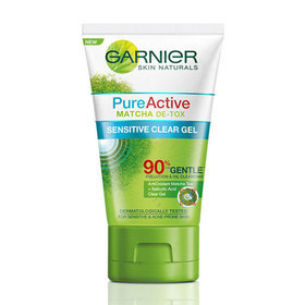Garnier Skin Naturals Pure Active Matcha De-tox Pollution & Oil Deep Clean Gel 100ml