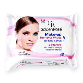 Golden Rose Make-Up Remover Wipes For Face & Eyes 25sheets (หมดอายุ 1/12/2017)