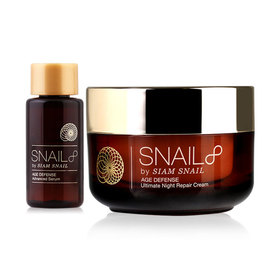 Snail8 Age Defense Ultimate Night Repair Cream 50g (Free! Snail8 Age Defense Advanced Serum 3ml)