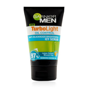 Garnier Men Turbolight Oil Control Icy Scrub 100ml