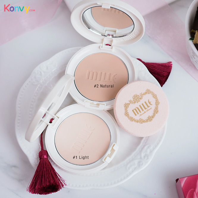Mille Super Whitening Gold Rose Pact SPF48 PA++ #2 Natural_2