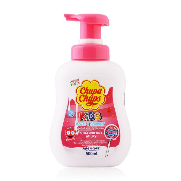 Chupa Chups Kids Bath & Shower 500ml #Strawberry Milk