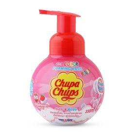 Chupa Chups Kids 2IN1 Hair & Body Color Foaming Wash 350ml #Strawberry Milk
