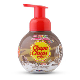 Chupa Chups Kids 2IN1 Hair & Body Color Foaming Wash 350ml #Choco Milk