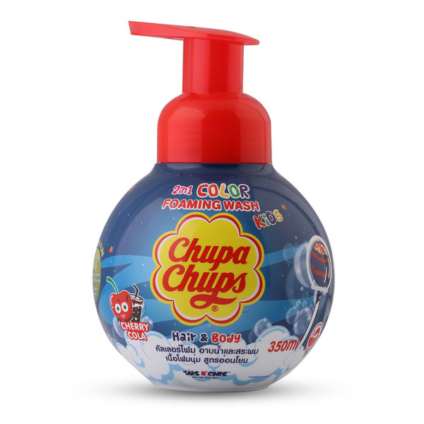 Chupa+Chups+Kids+2IN1+Hair+%26+Body+Color+Foaming+Wash+350ml+%23Cherry+Cola