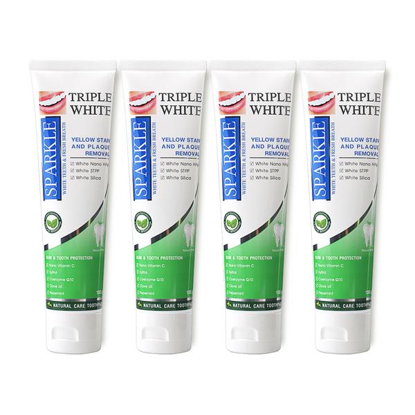 Sparkle+Triple+White+Toothpaste+Set+%28100g+x+4%29