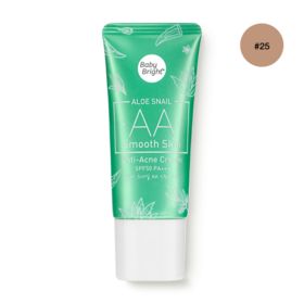 Baby Bright Aloe Snail AA Smooth Skin Anti-Acne Cream SPF50 PA+++ 30g #25 Honey Bright