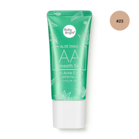 Baby Bright Aloe Snail AA Smooth Skin Anti-Acne Cream SPF50 PA+++ 30g #23 Natural Bright