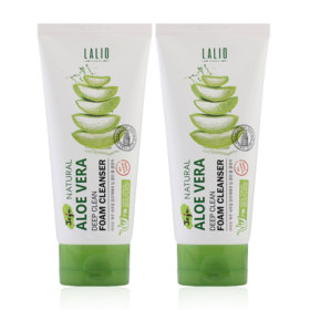 แพ็คคู่ Lalio Jeju Natural Aloe Vera Deep Clean Foam Cleanser (120ml x 2pcs)
