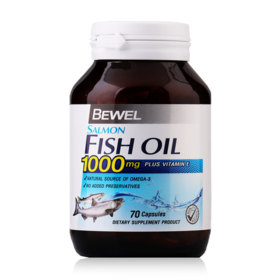 Bewel Salmon Fish Oil Plus Vitamin E 1000mg 70 Capsules