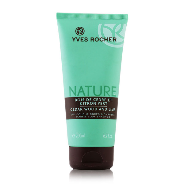 Yves+Rocher+Nature+Cedar+Wood+And+Lime+Hair+And+Body+Shampoo+200ml+%2832421%29