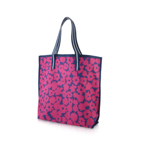 Estee Lauder Carrying Arm Flowers Pattern Bag #Dark Pink