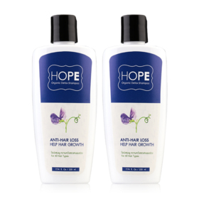 แพ็คคู่ Hope Organic Detox Shampoo Anti-Hair Loss Help Hair Growth (220ml x2)