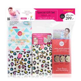 Cathy Doll BBetter Gift Set 4 Items (Cathy Dol Water Splash Essence With L-Glutathione 20g #Sweet Dream +Cathy Doll Oil Control