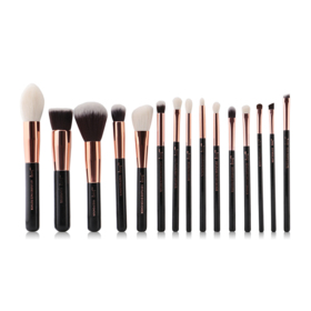 Jessup Professiomal Makeup Brushes Set 15pcs #T160 Black/Rose Gold