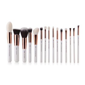 Jessup Professiomal Makeup Brushes Set 15pcs #T220 White/Rose Gold