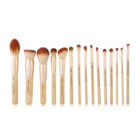 Jessup Professiomal Makeup Brushes Set 15pcs #T140 Bamboo