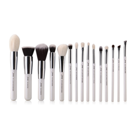 Jessup Professiomal Makeup Brushes Set 15pcs #T240 White/Silver