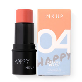 MKUP Happy Makeup Day Blusher/Lipstick/Eyeshadow #04 Dreamy Peach