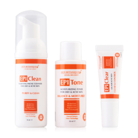 Skin Botaniques EPIAcne Care For Oily & Acne Skin Set 3 Items