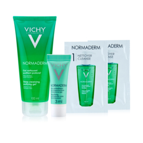 Vichy Normaderm Deep Cleansing Purifyin Exclusive Buy 1 Get 3 Free (Vichy Normaderm Deep Cleansing Purifying Gel 100ml + Vichy N