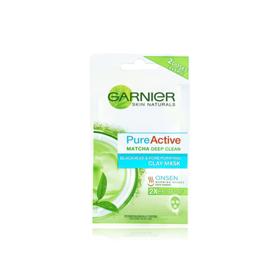 Garnier Skin Naturals Pure Active Matcha Deep Clean Clay Mask 6ml