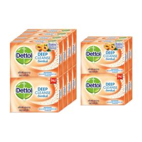 แพ็คคู่ Dettol Deep Cleanse Soap (65g x 8pcs) แถมฟรี Dettol Deep Cleanse Soap (65g x 4pcs)