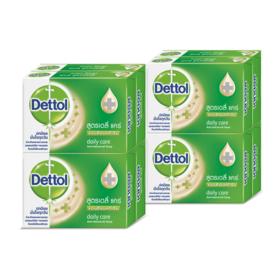แพ็คคู่ Dettol Anti-Bacterial Soap Daily Care (65g x 8pcs)