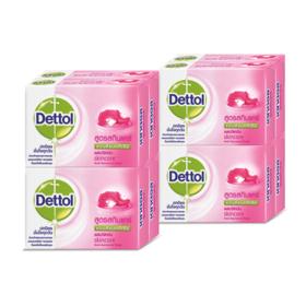 แพ็คคู่ Dettol Anti-Bacterial Soap Skincare 65g (4pcs x 2packs)