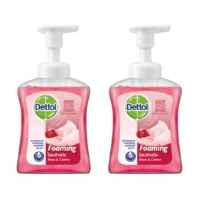 แพ็คคู่ Dettol Foam Handwash Rose&Cherry Pump (250ml x 2pcs)