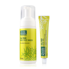 Thursday Plantation Tea Tree Set 2 Items (Acne Gel 10g + Daily Face Wash With Soothing Chamomile 150ml)