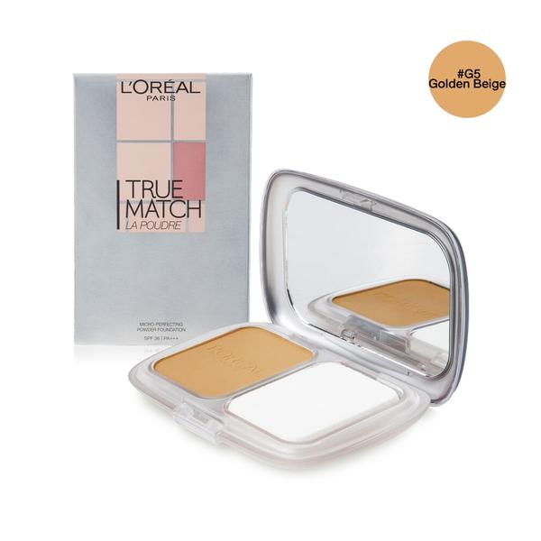 LOreal+Paris+True+Match+Micro-Perfecting+Powder+Foundation+SPF36%2FPA%2B%2B%2B+9g+%23G5+Golden+Beige