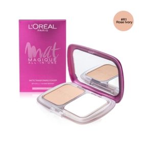 LOreal Paris Mat Magique All-In-One SPF34/PA+++ 6.5g #R1 Rose Ivory