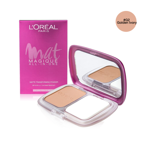 LOreal Paris Mat Magique All-In-One SPF34/PA+++ 6.5g #G2 Golden Ivory