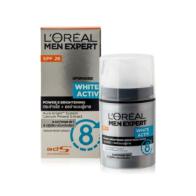 LOreal Paris Men Expert White Activ Power 8 Brightening Serum Moisturiser SPF26 50ml