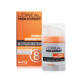 LOreal Paris Men Hydra Energetic Multi-Action 8 Anti-Fatigue Moisturizer 50ml