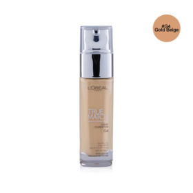 LOreal Paris True Match Liquid Foundation SPF 16PA++ 30ml #G4 Gold Beige