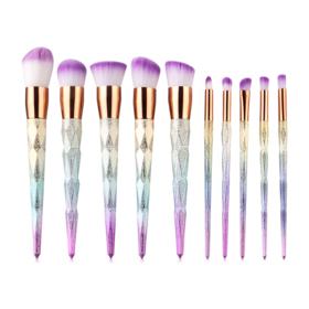 Makeup addict Unicorn Rainbow Glitter Makeup Brush Set 10pcs