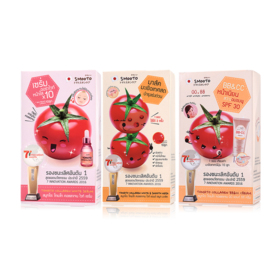 Smooto Japan Series Smooto Tomato Collagen Set 3 Items (White Serum 6pcs + BB & CC Cream 6pcs + White & Smooth Mask 6pcs)
