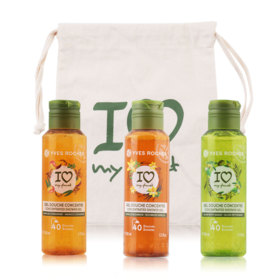 Yves Rocher Coriander Concentrated Shower Gel Set 3 Items (Mango 100ml + Vanilla 100ml + Olive 100ml)(82334 + 84371 + 86864)