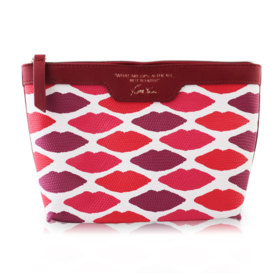 Estee Lauder Leather Pouch Kisses Pattern