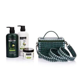 Tresemme Salon Detox Hair Set 4 Items (Shampoo 450ml + Conditioner 450ml + Masque 180ml + Suvimol #Green)