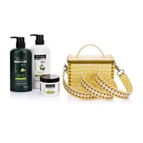 Tresemme Salon Detox Hair Set 4 Items (Shampoo 450ml + Conditioner 450ml + Masque 180ml + Suvimol #Yellow)