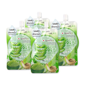 Smooto Japan Aloe-E Snail Bright Gel (50ml x 4pcs)