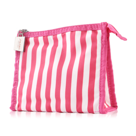 Shiseido Red & White Striped Bag