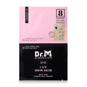 Dr.Monster Skin Soak Mask Firming - Full Program (#00 Black Bubble Bomb 22ml + #04 Firming-Full Re-Birth 25ml)