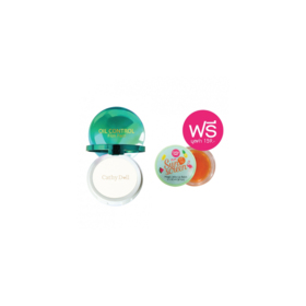 Cathy Doll Oil Control Film Pact Translucent 12g free Sunscreen Magic Jelly Lip Balm 5g (Mix Color)